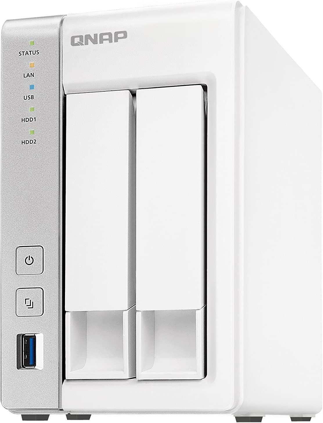 QNAP TS-231P Ethernet Escritorio Gris, Blanco NAS - Unidad Raid (16 TB, Unidad de Disco Duro, Unidad de Disco Duro, SSD, Serial ATA III, 8000 GB, 3.5