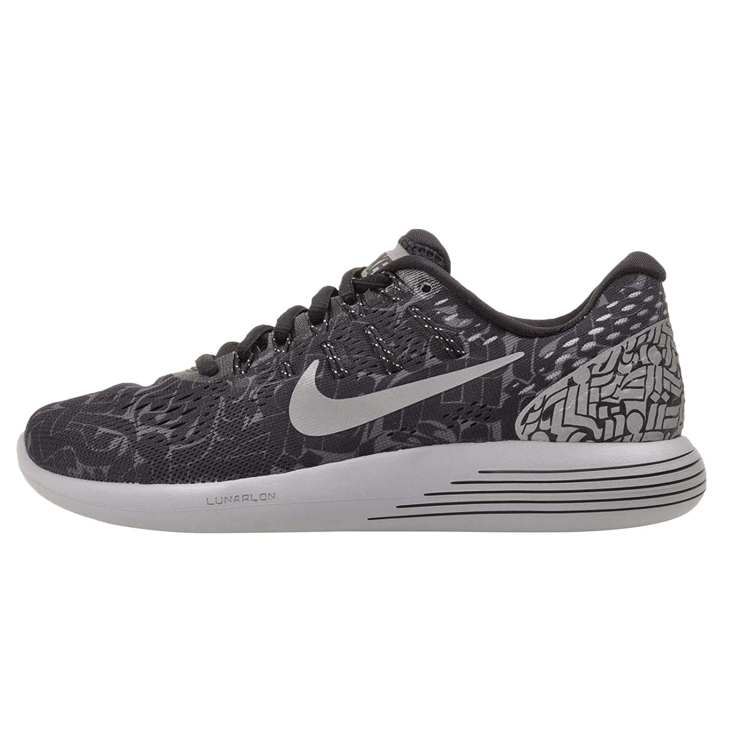 NIKE Women's Lunarglide 8 Running Shoe B071S1PT15 7 B(M) US|Black / Reflect Silver - Dark Grey