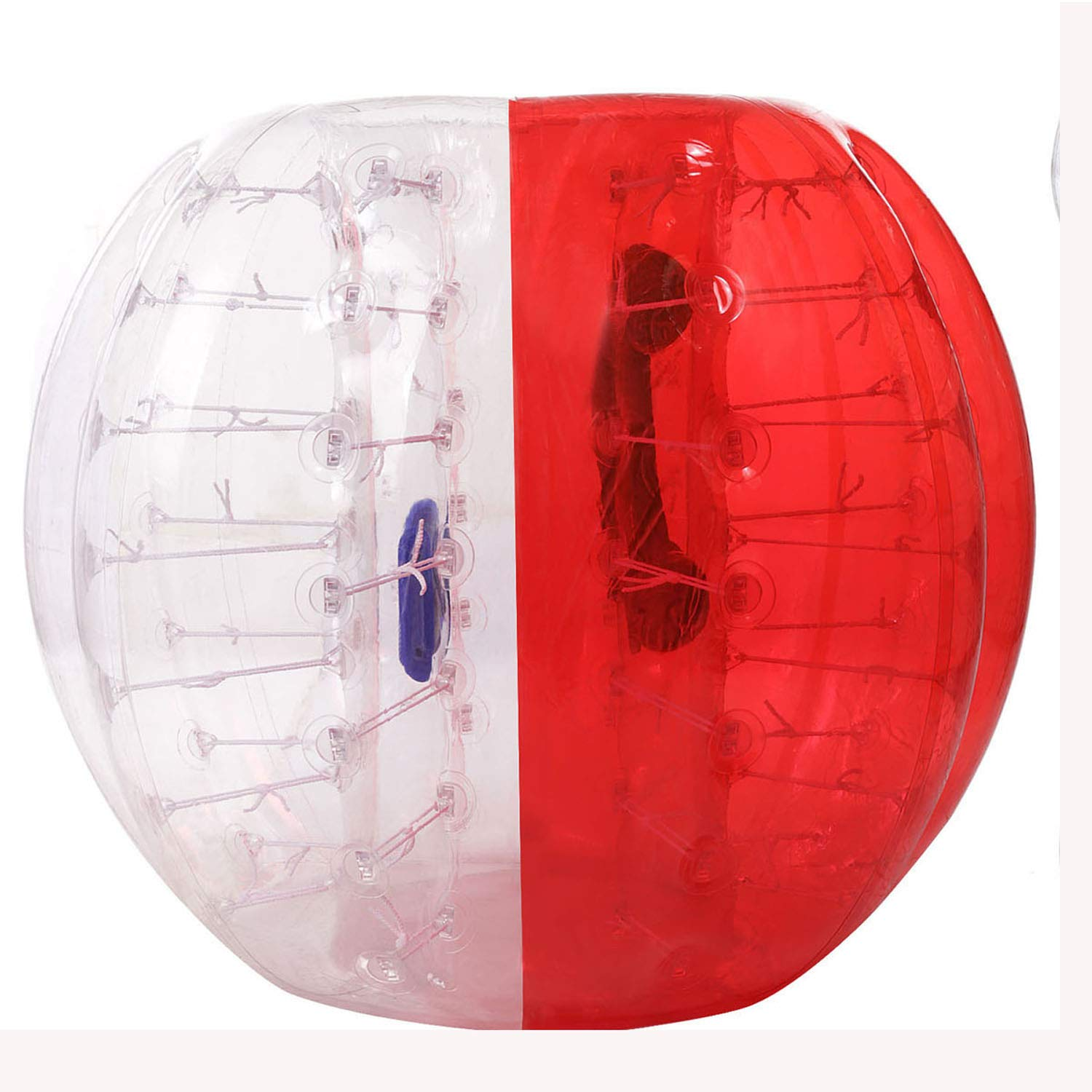 Flyerstoy Inflatable Bumper Ball Diameter 4/5 ft(1.2/1.5m) Bubble Soccer Ball Blow Up Toy,Giant Human Hamster Ball for Adults and Teens (Red&White 5ft)