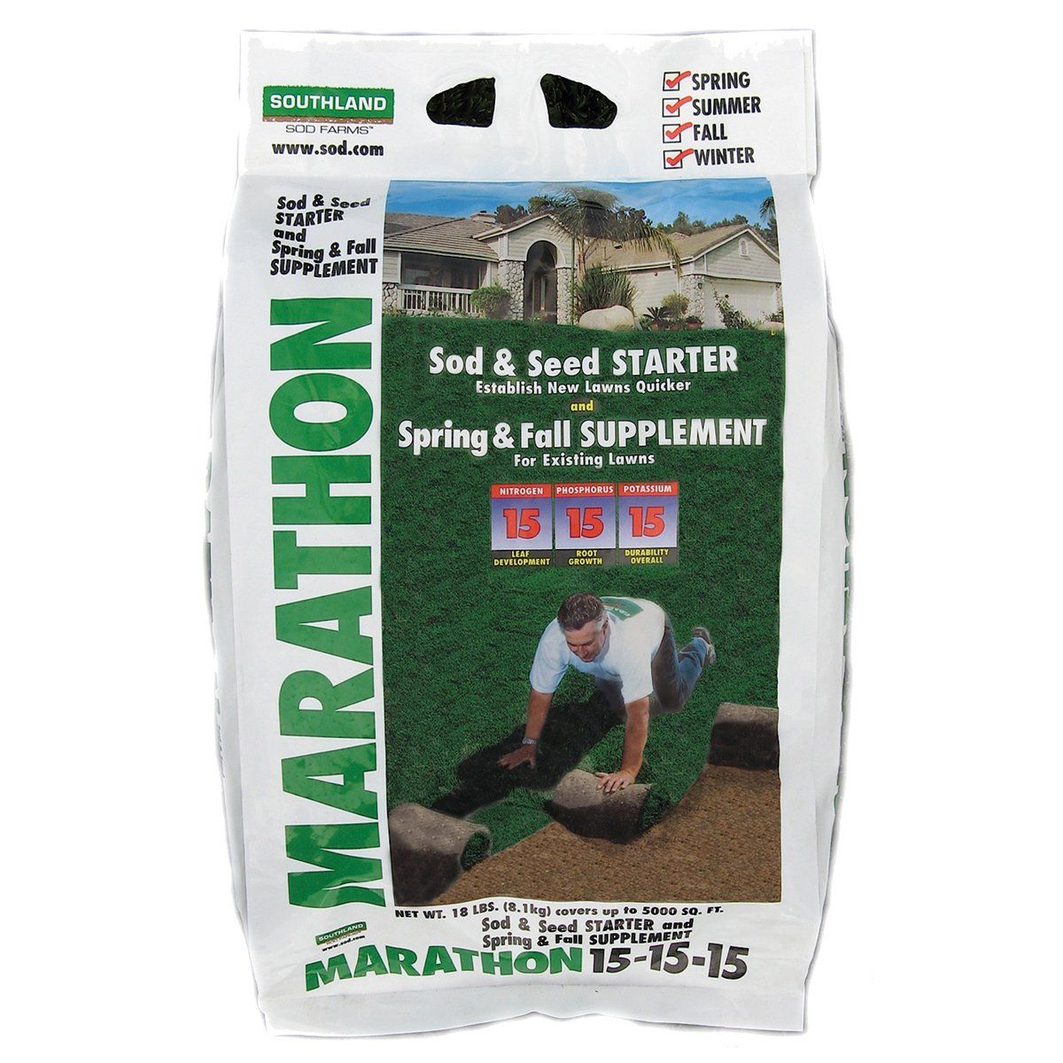 Southland Sod Farms 21 Sod and Seed Starter 15-15-15, 18-Pound by Southland Sod Farms