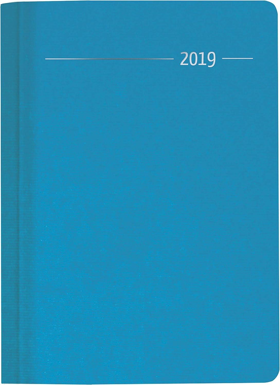 """Agenda Giornaliera Silk Line 2019 """"Acqua"""" 15X21 Cm"""
