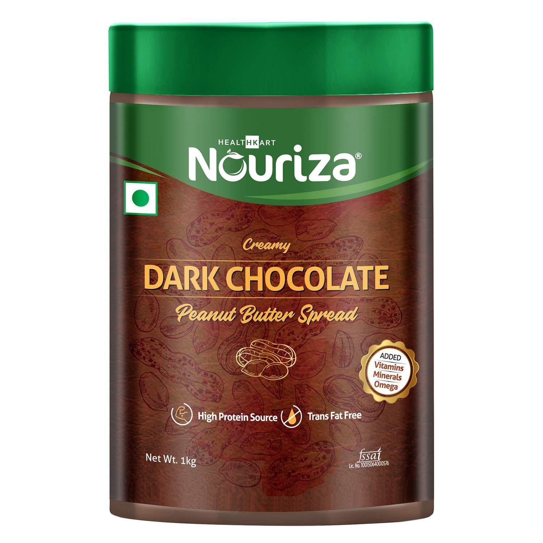 Nouriza Dark Chocolate Peanut Butter Spread (Vitamin & Mineral, 1 Kg)