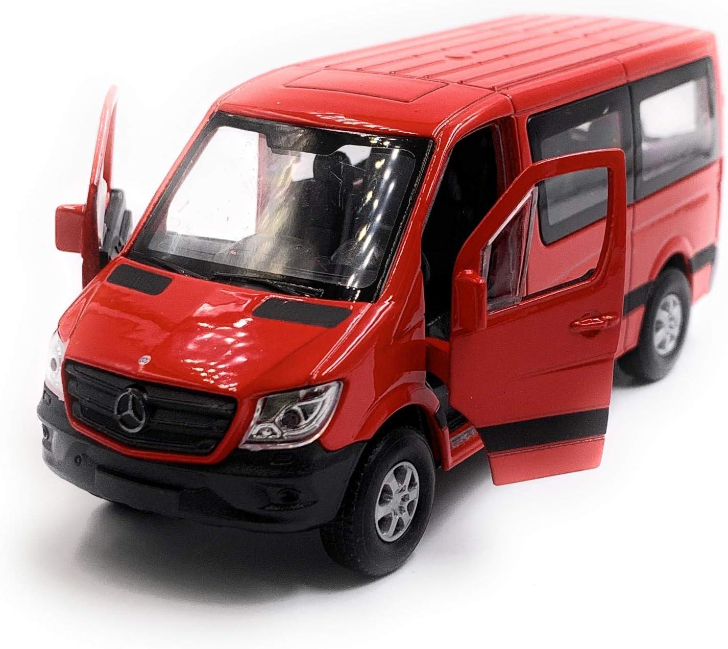 Onlineworld2013 Sprinter Mit Fenster Rot Modellauto Auto Maßstab 1 34 Lizensiert Auto