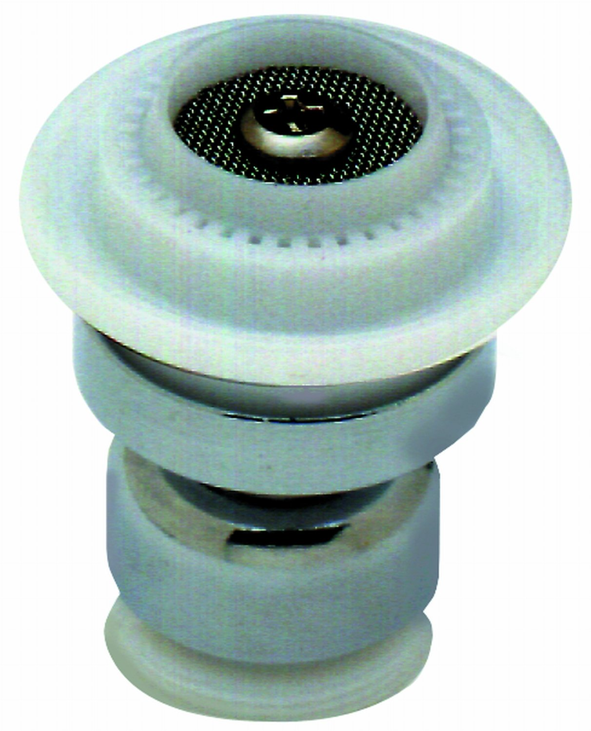 T&S Brass B-0199-22  Swivel Aerator, Dual Spray Pattern - Laminar Or Spray, 2.2 GPM, Thread Adapter Included