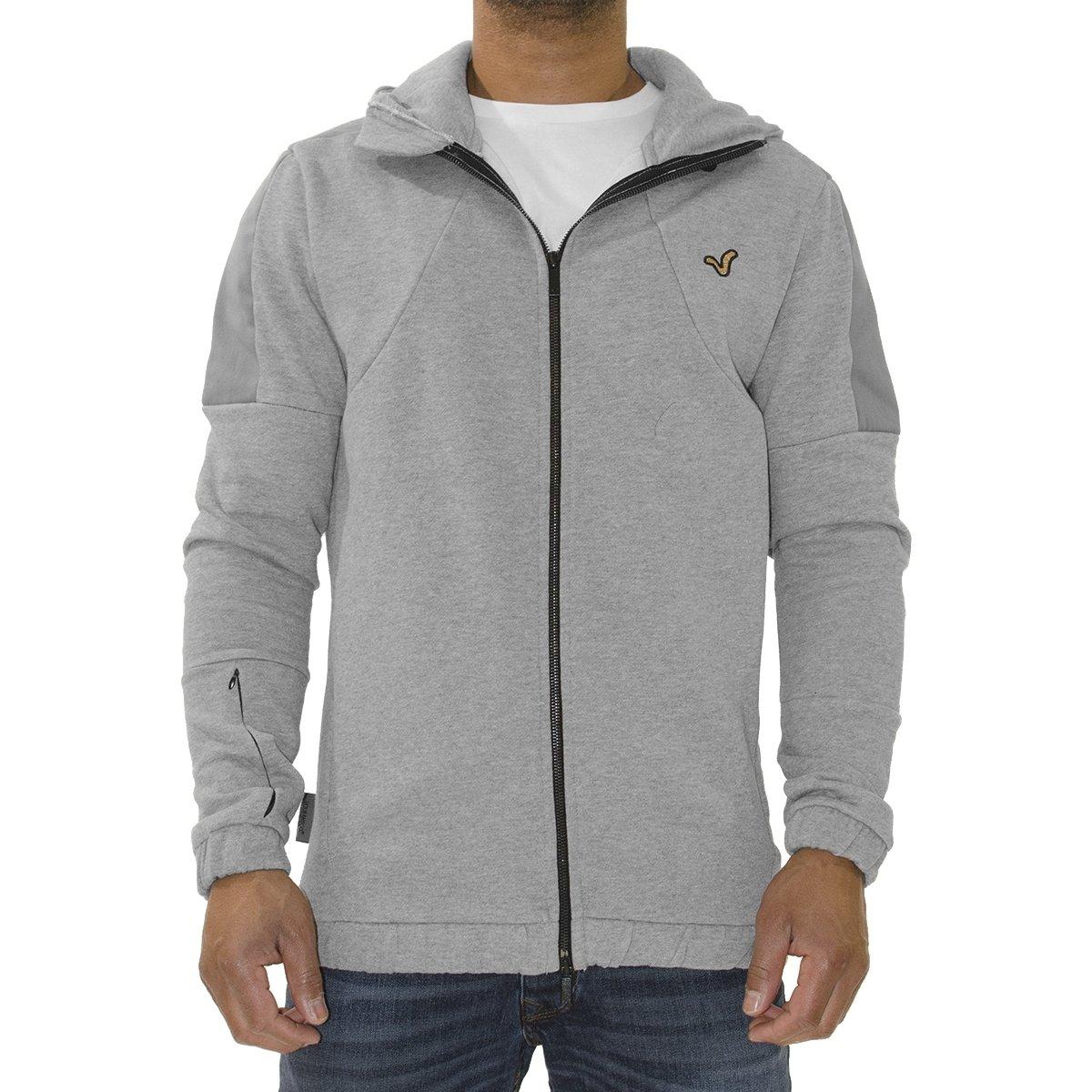 New Mens Voi Jeans Designer Hoodie Sweat Brake Grey Zip Hoody