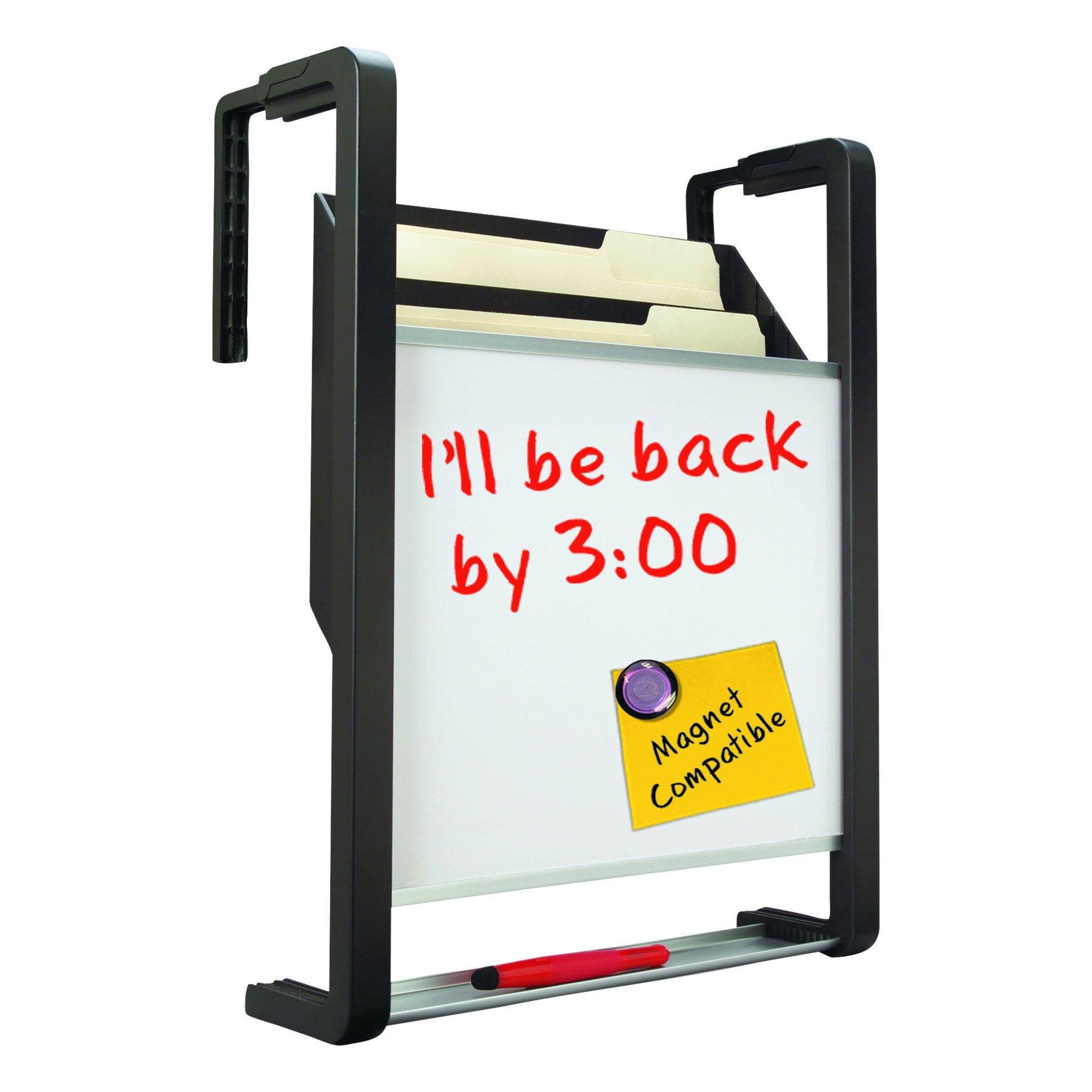 Quartet OFD Hanging File Pocket with Dry Erase Board, Three Pockets, Letter, Black by Quartet