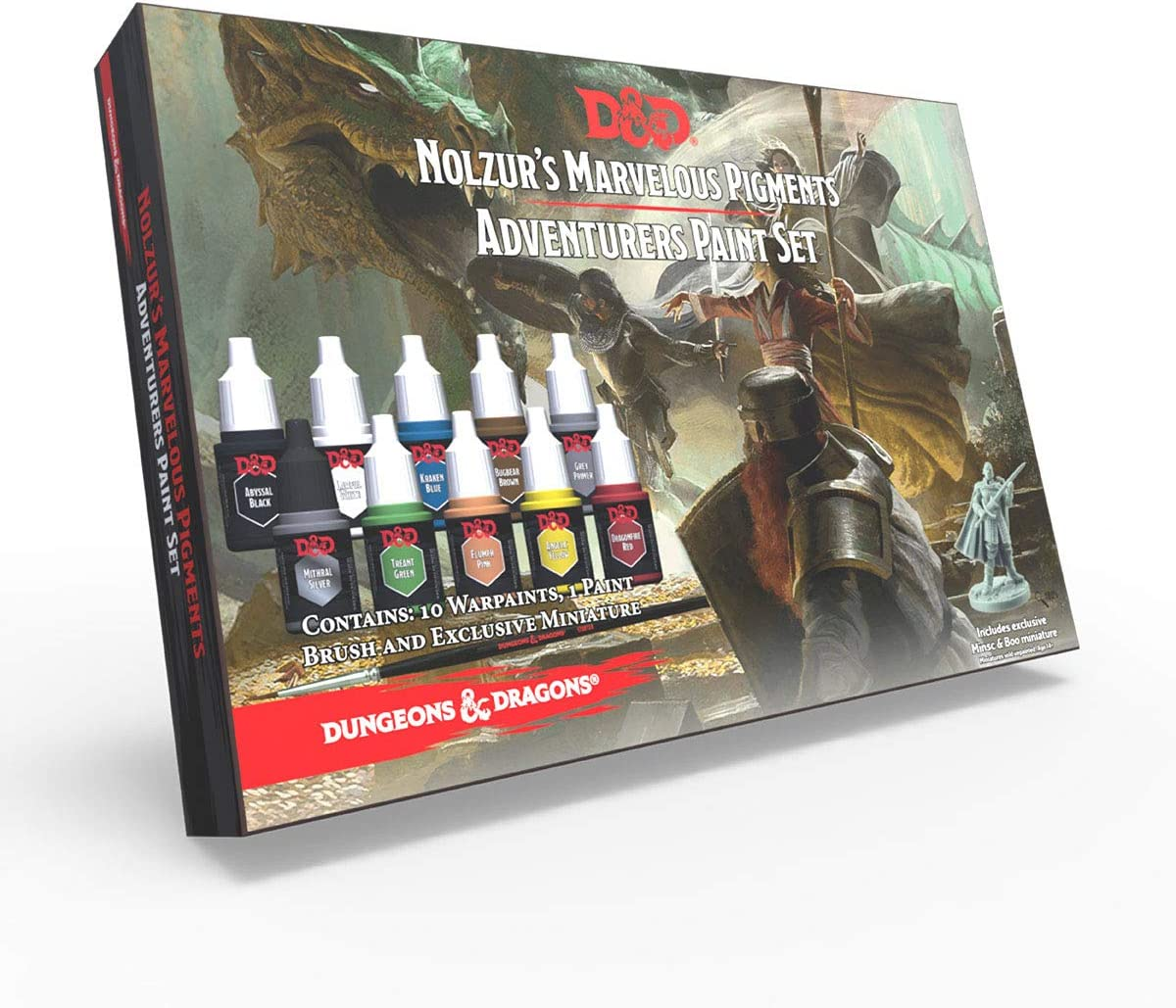 The Army Painter | Dungeons & Dragons Nolzur's Marvelous Pigments | Adventurers Paint Set | 10 Acrylic Paints and 1 Starter Brush for Roleplaying