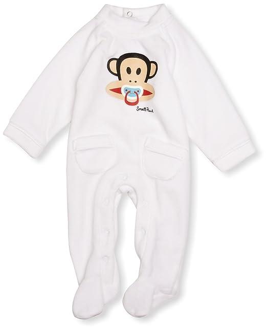 Paul Frank Pijama para niñas, color white, talla 0-3 mesess