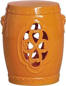 Emissary Home & Garden Clover Window Stool Tangerine