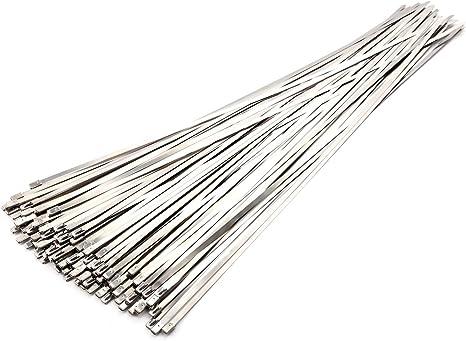25x Metallkabelbinder Kabelbinder Stahlband Edelstahl 4,6x150mm 0,16 EUR//Stk.