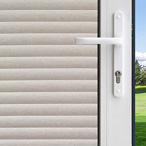 FILMGOO Decorative Window Film Privacy One Way,Heat Control Window Mirror Tint Sun Blocking Reflective Glass Coverings Static Cling Door Vinyl Non-Adhesive for Home Office 41.3 Inch x 7.8 Feet Silver