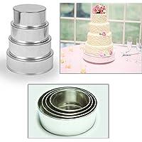 "4 Tier Round Multilayer Wedding Birthday Anniversary Baking Cake Tins Cake Pans 6"" 8"" 10"" 12"" - EUROTINS"