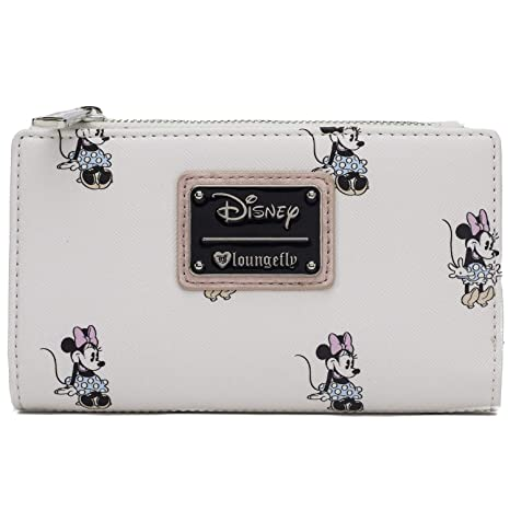 Amazon.com  Loungefly Disney s Vintage Minnie Mouse Allover Wallet ... 2325393b56d4c