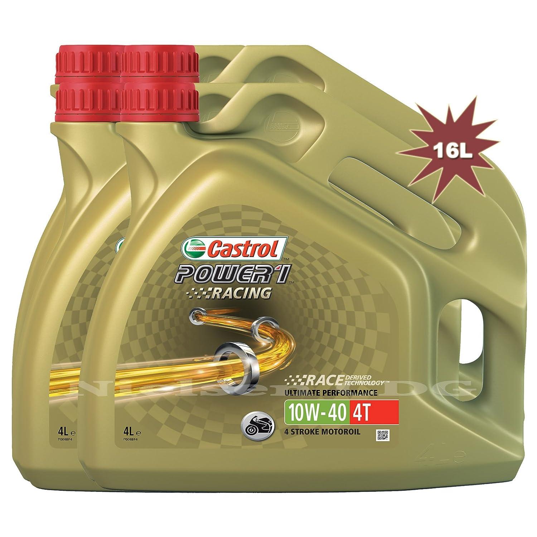 Castrol Power 1 Racing 4T 10W40 - Aceite de Motor para Motocicleta: Amazon.es: Coche y moto