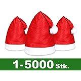 ALSINO Weihnachtsmütze 24er Set   Weihnachtsmützen rot Nikolausmütze mit Bommel - perfekt als Werbeartikel & Give-Away   Durchmesser Kopfumfang: 27 cm, für Erwachsene   von ALSINO Modell: WM-32