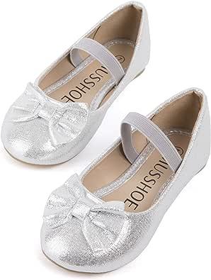 MUSSHOE Girls Toddler/Little Kid/Big Kid Serena-100 Mary Jane Ballerina Flat Shoes