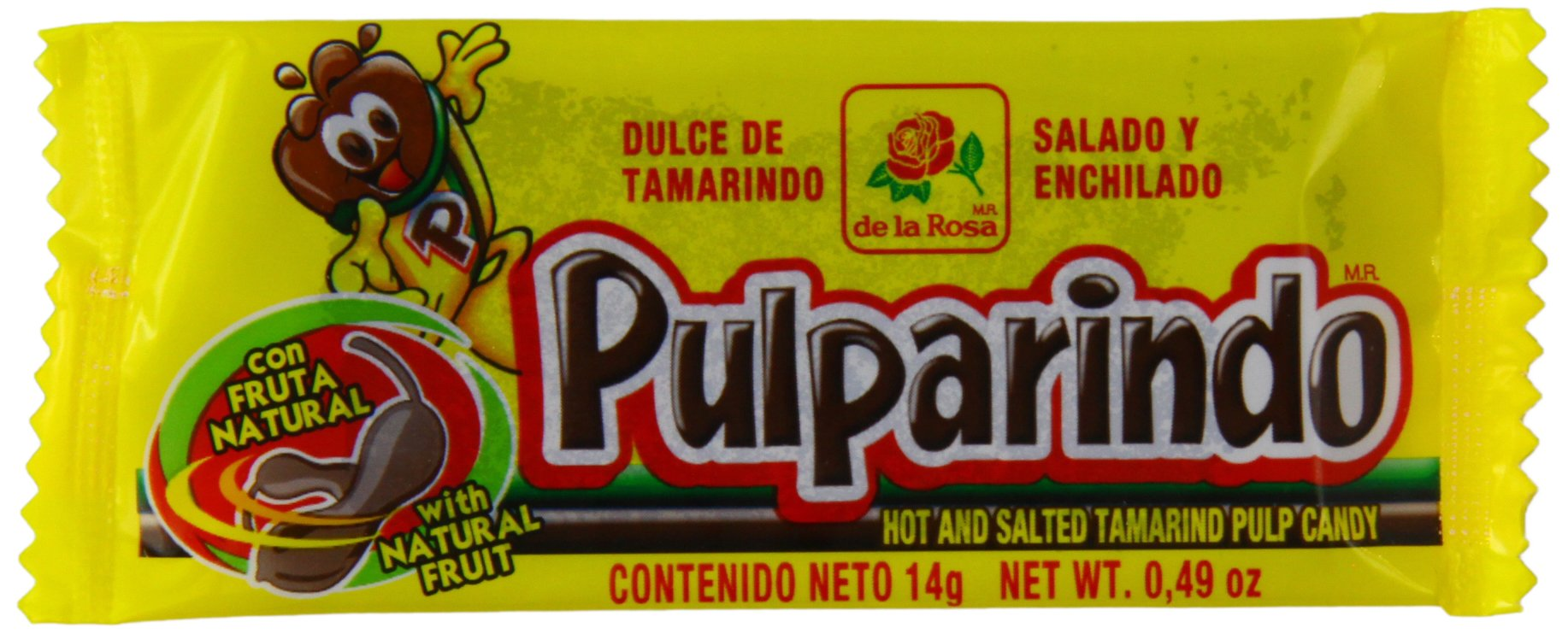 Pulparindo Hot and Salted Tamarind Pulp Candy 14g (Pack of 20)
