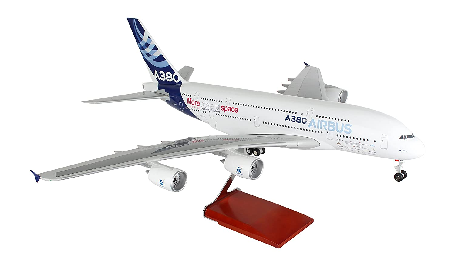 Daron Skymarks Airbus House Colors A380-800 Airplane Model with Wood Stand /& Gear 1//100 Scale