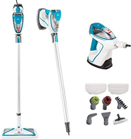 The Bissell Powerfresh Slim Steam Mop is perfect for deep cleaning around the house with its 8 suction and brush attachments