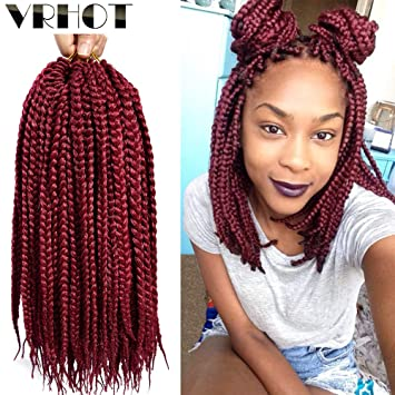 Amazoncom Vrhot 6packs 12 Inch Box Braids Crochet Hair Pre Looped