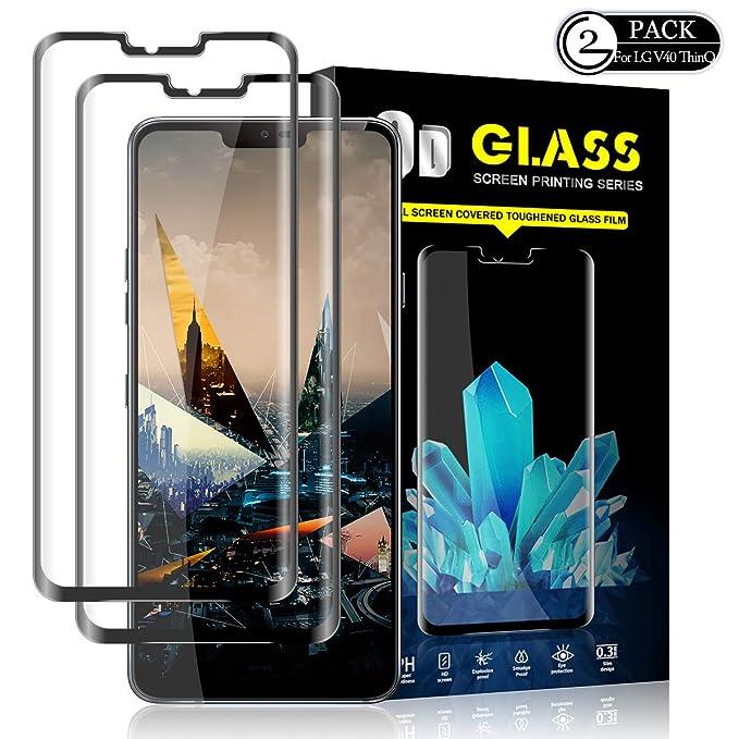 YEBF - Protector de Pantalla para LG G8 ThinQ (2 Unidades, Cristal ...