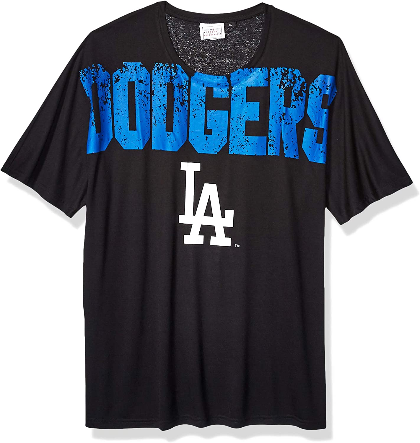 FOCO MLB Los Angeles Dodgers Mens Big Logo Wordmark Teebig Logo Wordmark Tee Team Color X-Large