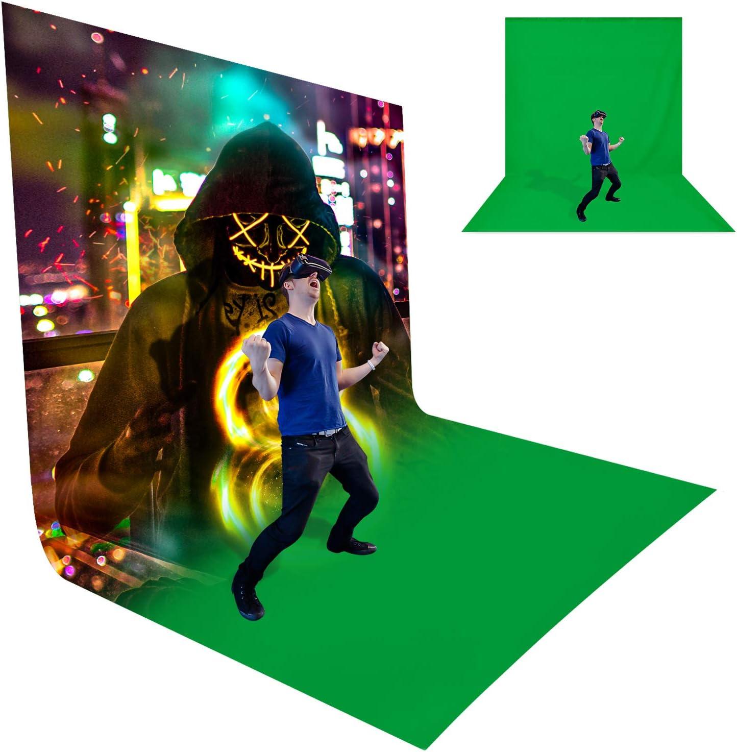 LimoStudio 10 x 20 ft. Chroma Key, Non-Woven Fabric Solid Color Green Screen Photo Backdrop Studio Photography, Non-Gloss Reflective Fabrication, A - Grade Premium Green Backdrop Screen, AGG3030