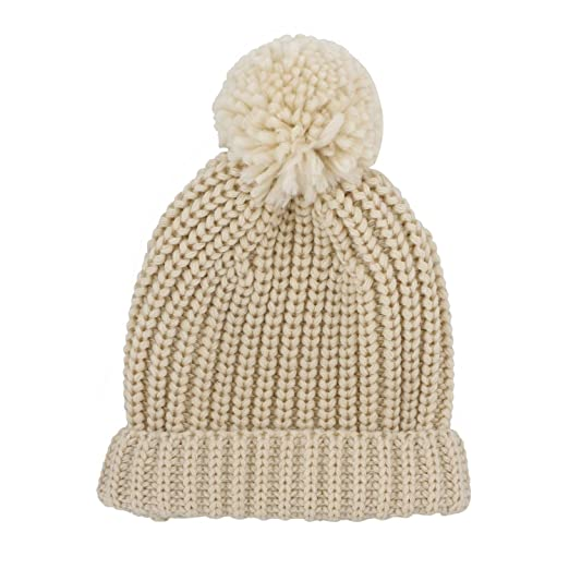 Jiuhong Kids Toddler Pompom Beanie Hat Baby Cable Knit Winter Hats  Candy-Colored Caps for 4fcb1757002