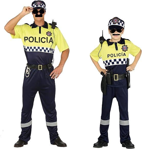 Disfraz de Policía Local. Compuesto de Camiseta, pantalón, gorra y ...