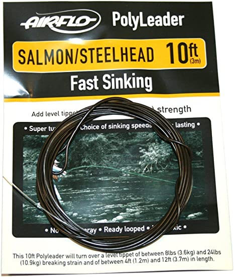 fly fishing SALMON Tapered poly Leader Airflo 10ft  fast sink tip