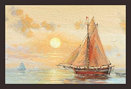 105d8f2e3 Mad Masters Fisherman boat, paintings, fishing, ocean, sea, sky, Textured