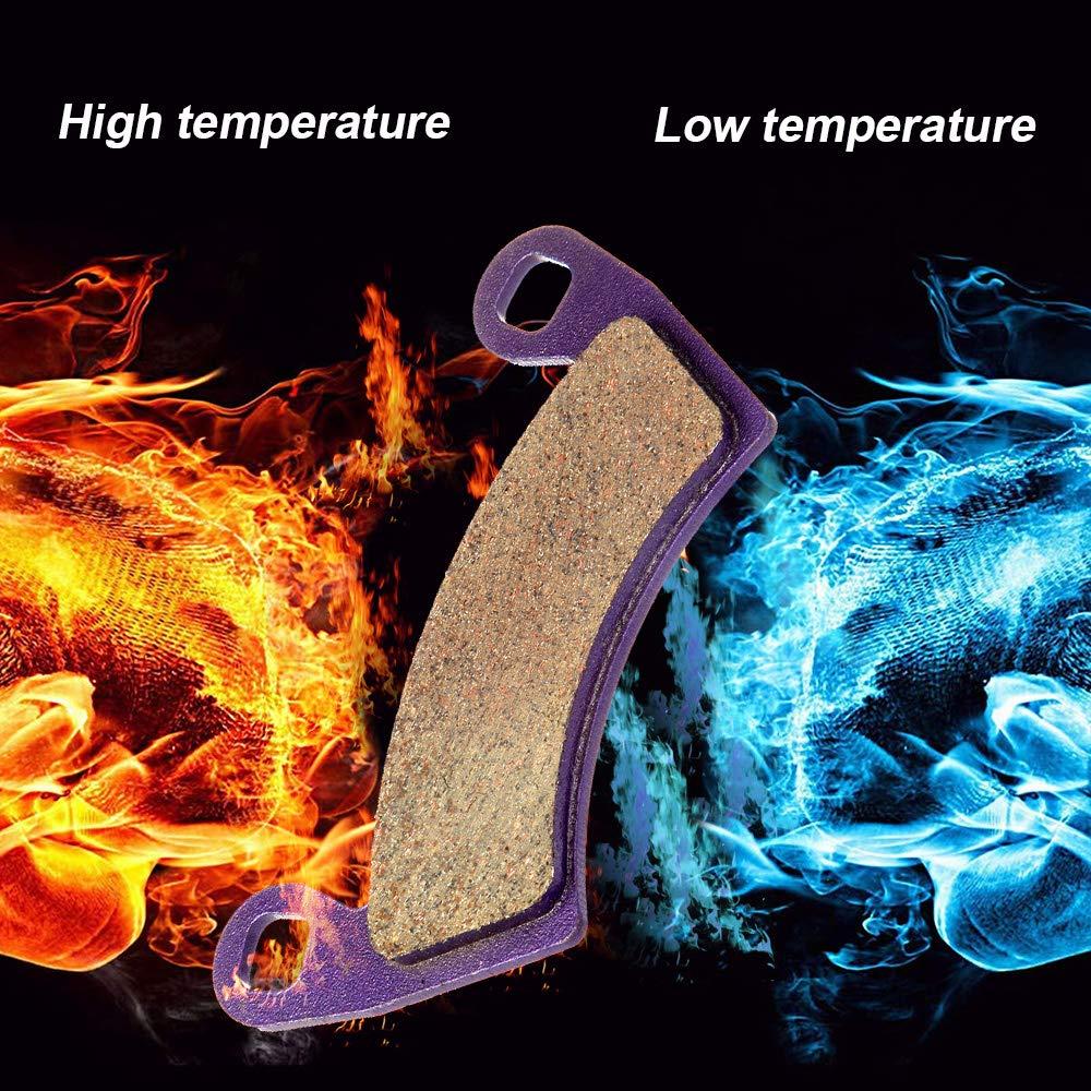 SCITOO Kevlar Carbon Fiber Brake Pads Fit for 08 09 10 11 12 13 14 Polaris Ranger 14 15 16 17 Polaris RZR