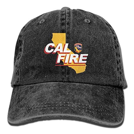amazon com california strong cal fire logo unisex adjustable cotton