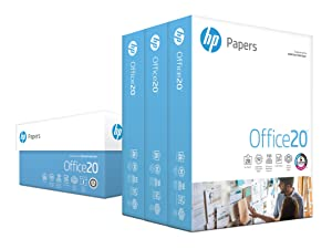HP Printer Paper, Office20 Paper, 8.5 x 11 Paper, Letter Size, 20lb Paper, 92 Bright, 3 Ream Case / 1,500 Sheets (112090C) Acid Free Paper