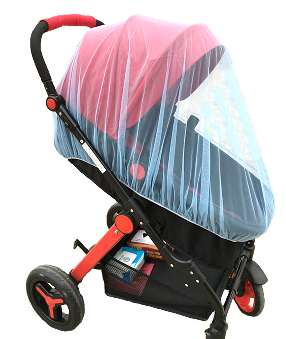 Mosquito Net Bug Net for Baby Strollers Infant Carriers Baby Cradle Ultra Fine Mesh Protection Against Mosquitos No Harmful Chemicals Help Baby Stay Away from Bugs (Blue)