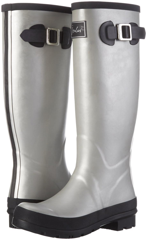 Joules Women's Field Welly Rain Boot B01FAO3BT2 8 B(M) US|Silver