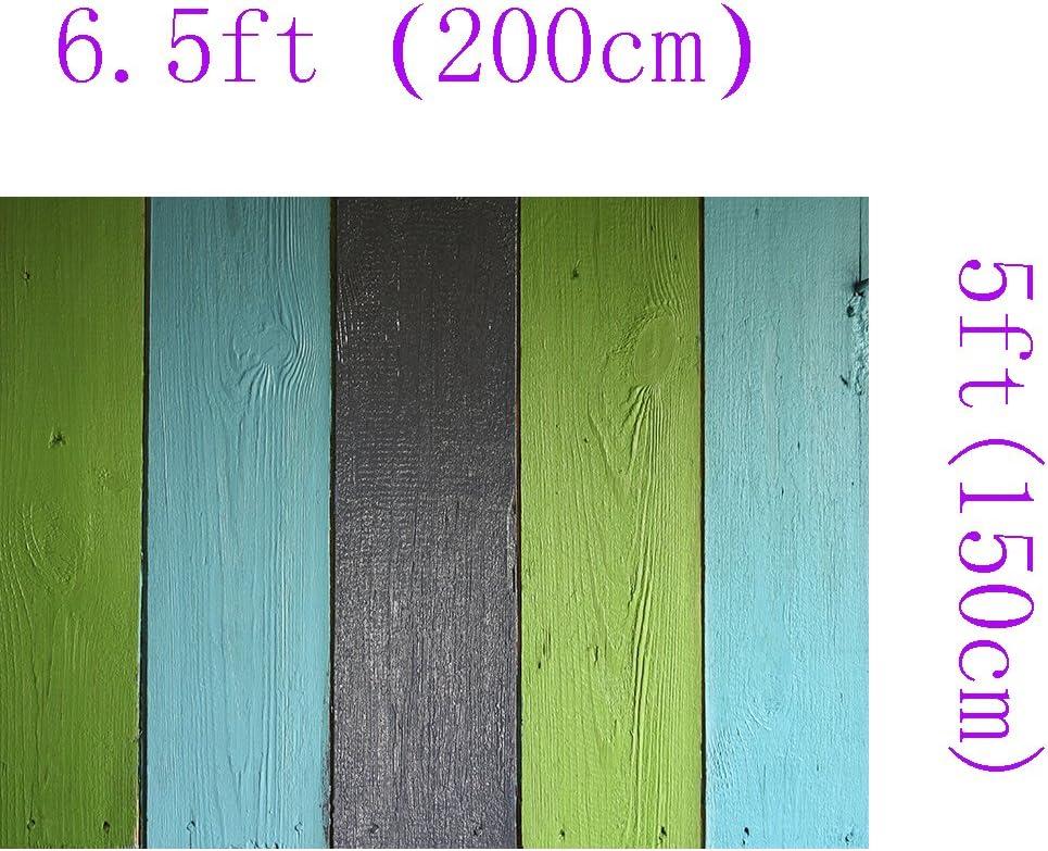 Green Blue Black Wood Floor Wall Decoration Backdrop Background 310 DZJYQ 6.5x5ft 2x1.5m