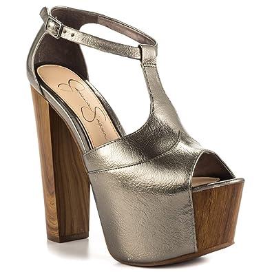 cf64331e2c7 Jessica Simpson Dany - Gunmetal Metallic  Amazon.co.uk  Shoes   Bags