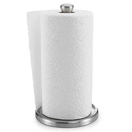 Polder Single Tear Paper Towel Holder U2013 Sturdy, One Handed Tear, Fits  Standard