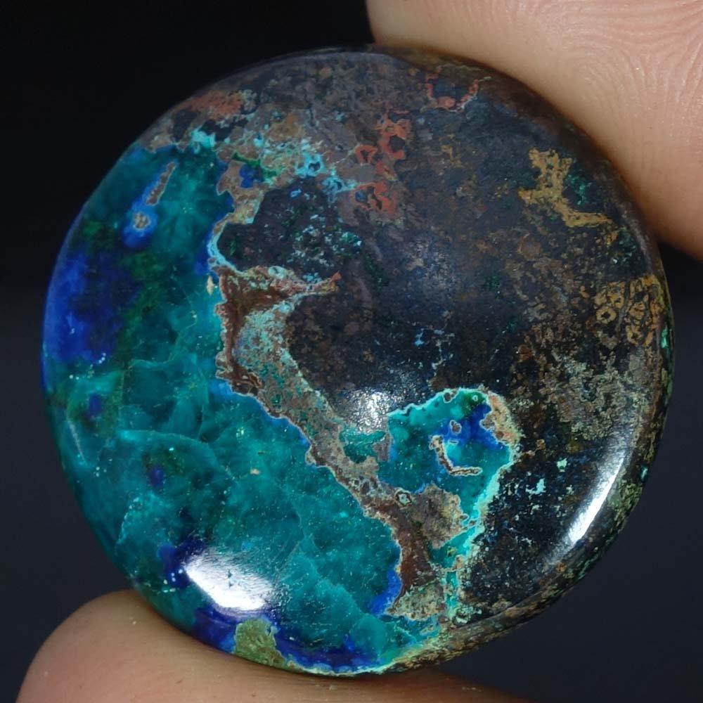 Radheygovind gems 63.40Cts.100% Natural Blue Azurite Round Cab Fine Quality Loose Gemstones