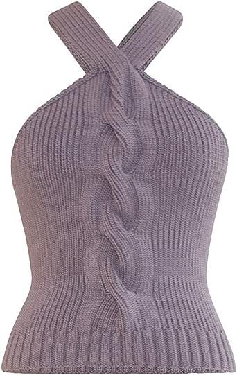 Alejandra Alonso Rojas Natalia Hand Knit Halter Top