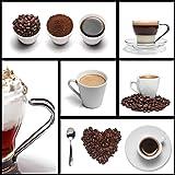 "Eurographics DG-DT7019 Cadre en verre 50 x 50 cm ""I Love Coffee"