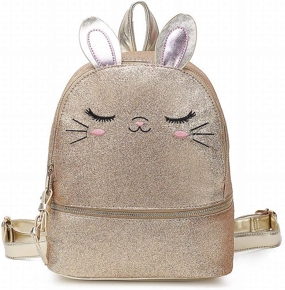 Gold QiXian Cute Cartoon College Cat Backpack