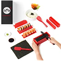 Sushi Making Kit - AYA Sushi Maker Deluxe Exclusive Online Video Tutorials - Complete 11 Piece DIY Sushi Set - Easy and…