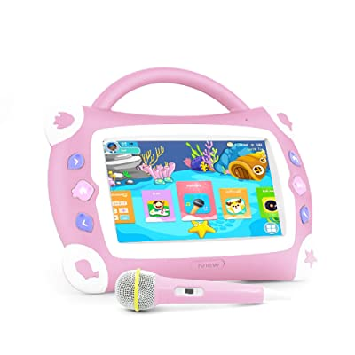 "iView Sing Pad 7"" Kids Karaoke Tablet with Microphone, WiFi, Preloaded Children's Games, Parental Control, Tablet Case with Built-in Stand, Pink: Computers & Accessories"