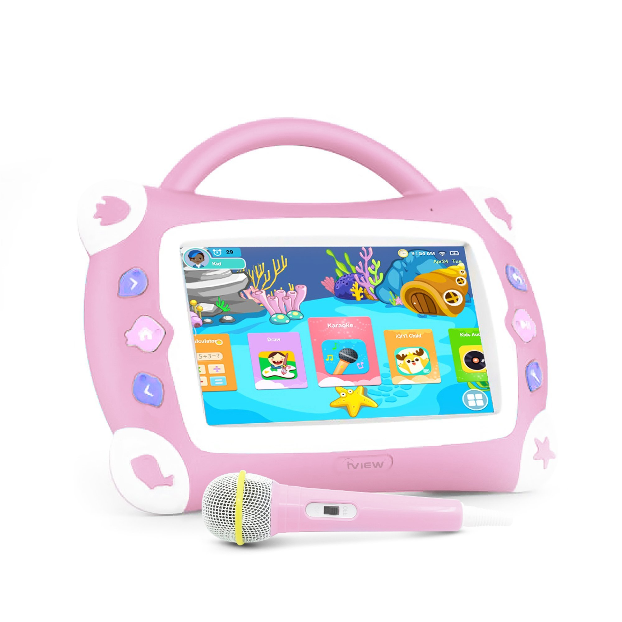 iView Sing Pad 711TPC, 7'' Kids Tablet with WiFi, Microphone, Preloaded Children's Games, Karaoke, Parental Control, Tablet Case with Built-in Stand by IVIEW (Image #1)