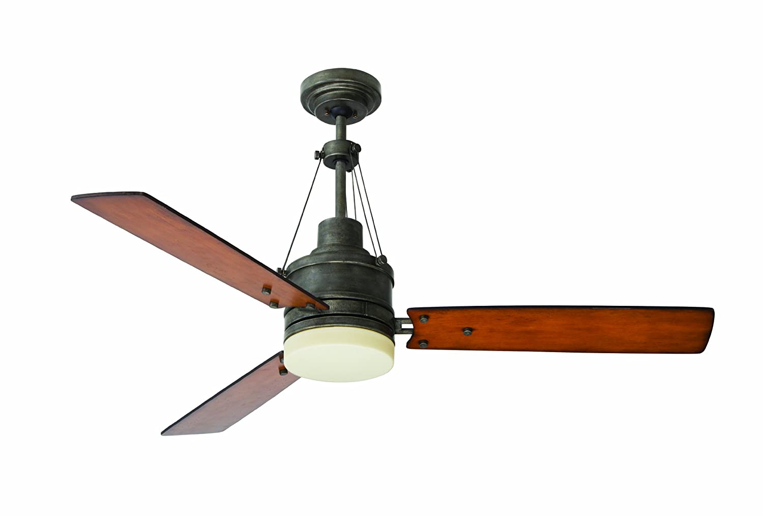 Emerson Ceiling Fans CF205VS Highpointe Modern Ceiling Fan With Light And  Remote, 54 Inch Blades, Vintage Steel Finish, 51 To 55 Inches     Amazon.com