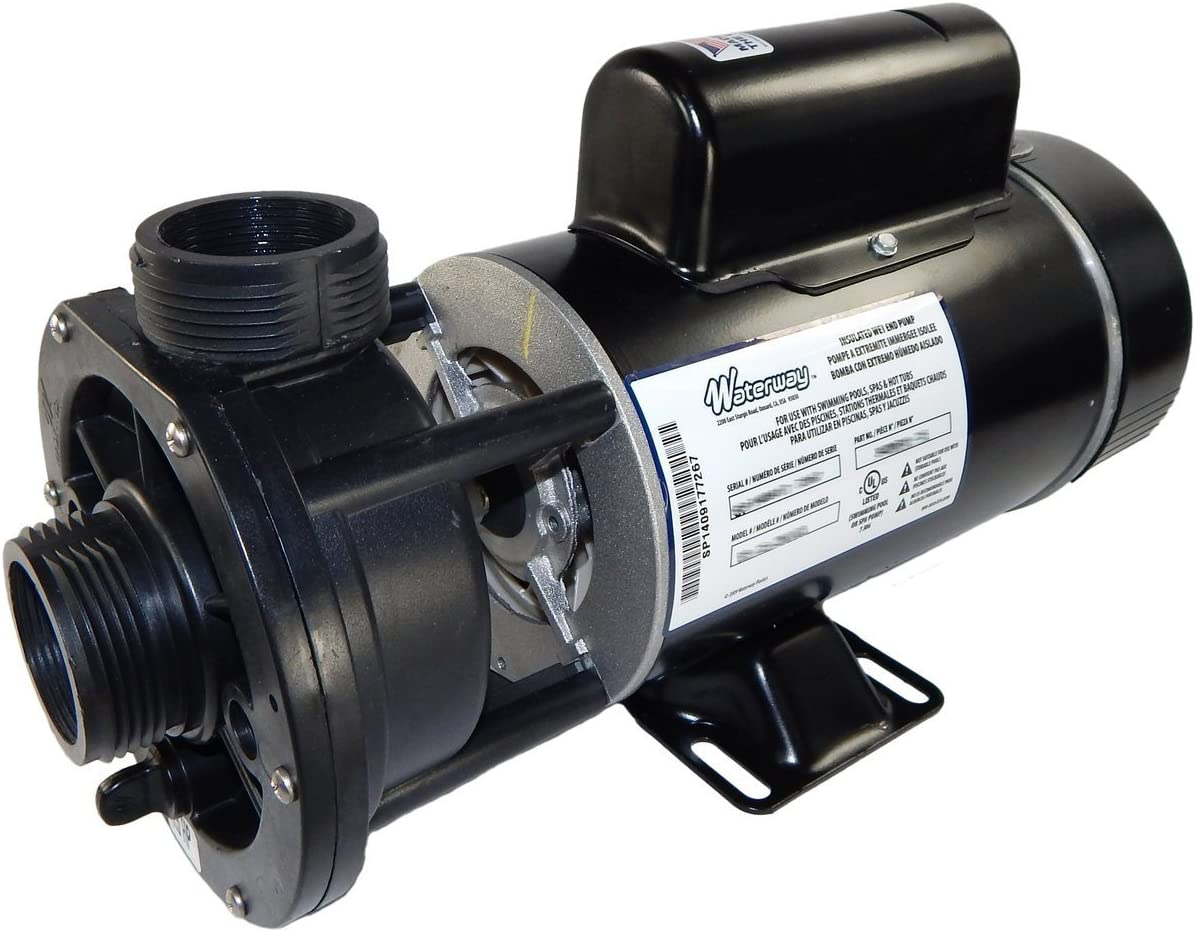 """1.5 hp 115V 2-Speed Waterway Spa Pump 1 1/2"""" Center Discharge   3420610-15"""