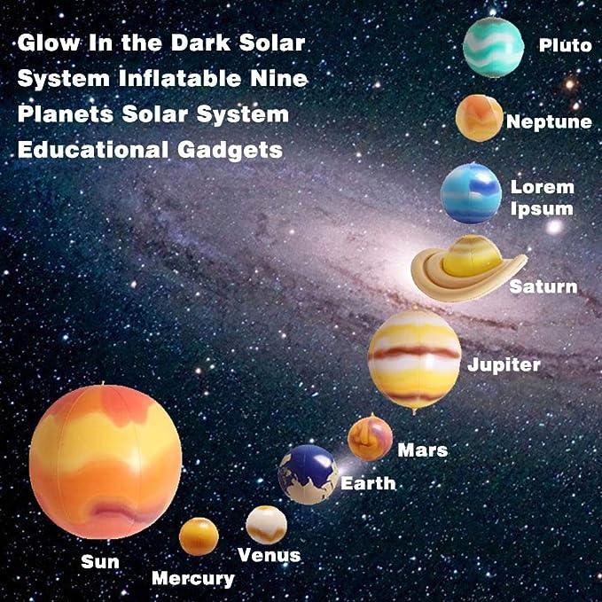 Glow in the Dark planètes Décoration 3D système solaire Cadeaux Jeux et gadgets