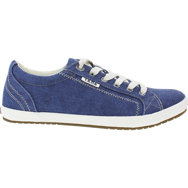 Taos Footwear Women's Star Blue Wash Canvas Sneaker 10 (W) US